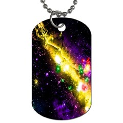 Galaxy Deep Space Space Universe Stars Nebula Dog Tag (two Sides)