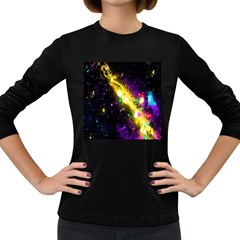 Galaxy Deep Space Space Universe Stars Nebula Women s Long Sleeve Dark T Shirts