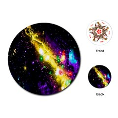 Galaxy Deep Space Space Universe Stars Nebula Playing Cards (round)