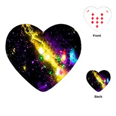 Galaxy Deep Space Space Universe Stars Nebula Playing Cards (heart)