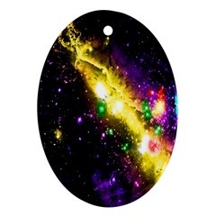 Galaxy Deep Space Space Universe Stars Nebula Oval Ornament (two Sides)
