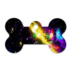 Galaxy Deep Space Space Universe Stars Nebula Dog Tag Bone (two Sides)