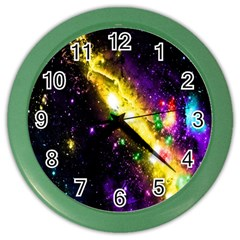 Galaxy Deep Space Space Universe Stars Nebula Color Wall Clocks
