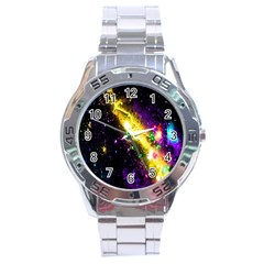 Galaxy Deep Space Space Universe Stars Nebula Stainless Steel Analogue Watch