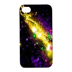 Galaxy Deep Space Space Universe Stars Nebula Apple Iphone 4/4s Hardshell Case With Stand