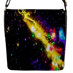 Galaxy Deep Space Space Universe Stars Nebula Flap Messenger Bag (s)