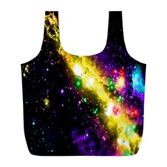 Galaxy Deep Space Space Universe Stars Nebula Full Print Recycle Bags (l)
