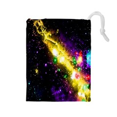 Galaxy Deep Space Space Universe Stars Nebula Drawstring Pouches (large)