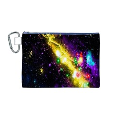 Galaxy Deep Space Space Universe Stars Nebula Canvas Cosmetic Bag (m)