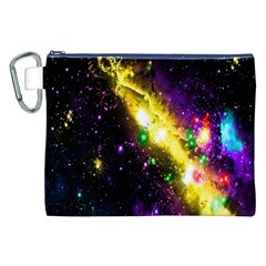 Galaxy Deep Space Space Universe Stars Nebula Canvas Cosmetic Bag (xxl)