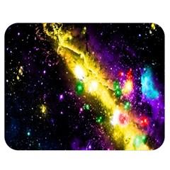Galaxy Deep Space Space Universe Stars Nebula Double Sided Flano Blanket (medium)