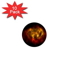 Galaxy Nebula Space Cosmos Universe Fantasy 1  Mini Buttons (10 Pack)