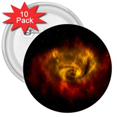 Galaxy Nebula Space Cosmos Universe Fantasy 3  Buttons (10 Pack)