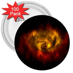 Galaxy Nebula Space Cosmos Universe Fantasy 3  Buttons (100 Pack)