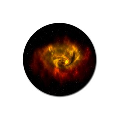 Galaxy Nebula Space Cosmos Universe Fantasy Rubber Coaster (round)