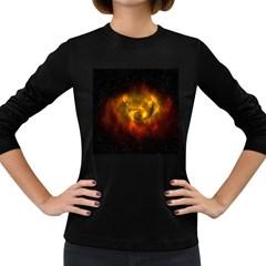 Galaxy Nebula Space Cosmos Universe Fantasy Women s Long Sleeve Dark T Shirts