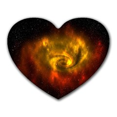 Galaxy Nebula Space Cosmos Universe Fantasy Heart Mousepads