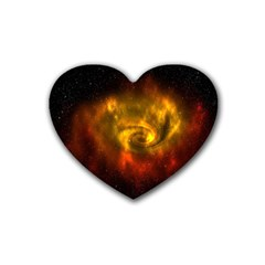 Galaxy Nebula Space Cosmos Universe Fantasy Heart Coaster (4 Pack)