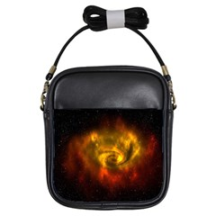 Galaxy Nebula Space Cosmos Universe Fantasy Girls Sling Bags