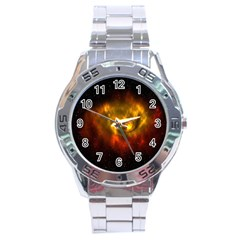 Galaxy Nebula Space Cosmos Universe Fantasy Stainless Steel Analogue Watch