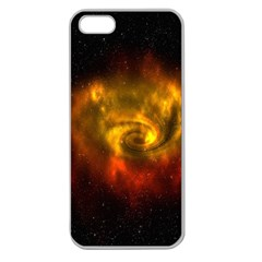 Galaxy Nebula Space Cosmos Universe Fantasy Apple Seamless Iphone 5 Case (clear)