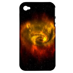 Galaxy Nebula Space Cosmos Universe Fantasy Apple Iphone 4/4s Hardshell Case (pc+silicone)