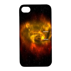 Galaxy Nebula Space Cosmos Universe Fantasy Apple Iphone 4/4s Hardshell Case With Stand