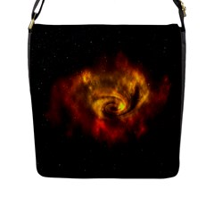 Galaxy Nebula Space Cosmos Universe Fantasy Flap Messenger Bag (l)
