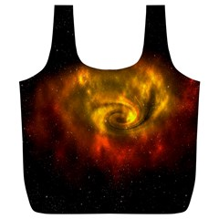 Galaxy Nebula Space Cosmos Universe Fantasy Full Print Recycle Bags (l)