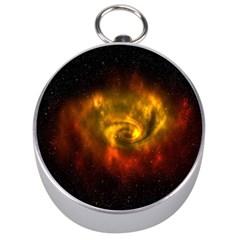 Galaxy Nebula Space Cosmos Universe Fantasy Silver Compasses