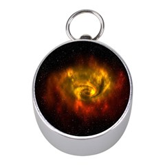 Galaxy Nebula Space Cosmos Universe Fantasy Mini Silver Compasses