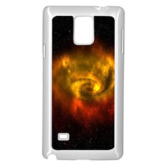 Galaxy Nebula Space Cosmos Universe Fantasy Samsung Galaxy Note 4 Case (white)