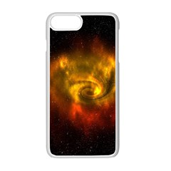 Galaxy Nebula Space Cosmos Universe Fantasy Apple Iphone 7 Plus White Seamless Case