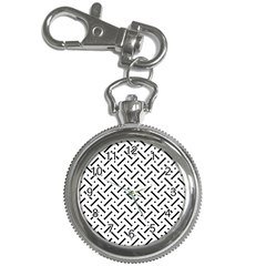 Geometric Pattern Key Chain Watches