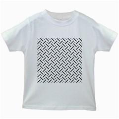 Geometric Pattern Kids White T Shirts