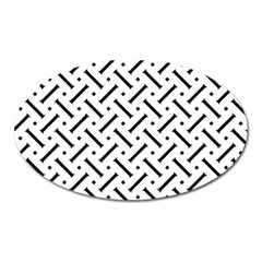 Geometric Pattern Oval Magnet