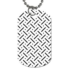Geometric Pattern Dog Tag (one Side)