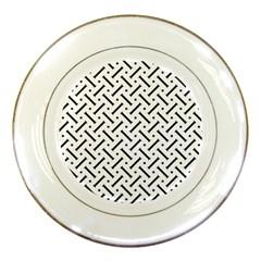 Geometric Pattern Porcelain Plates