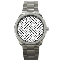 Geometric Pattern Sport Metal Watch