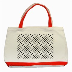 Geometric Pattern Classic Tote Bag (red)