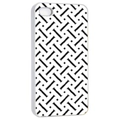 Geometric Pattern Apple Iphone 4/4s Seamless Case (white)