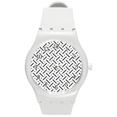 Geometric Pattern Round Plastic Sport Watch (m)
