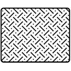 Geometric Pattern Double Sided Fleece Blanket (medium)