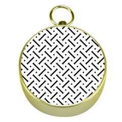 Geometric Pattern Gold Compasses