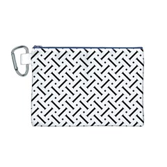 Geometric Pattern Canvas Cosmetic Bag (m)