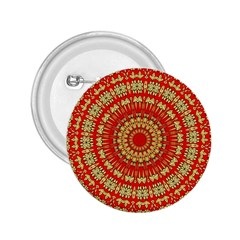 Gold And Red Mandala 2.25  Buttons