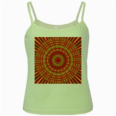 Gold And Red Mandala Green Spaghetti Tank