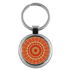 Gold And Red Mandala Key Chains (round)