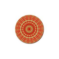 Gold And Red Mandala Golf Ball Marker (4 Pack)