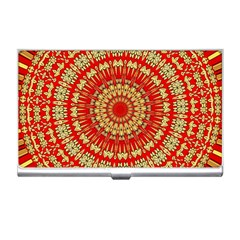 Gold And Red Mandala Business Card Holders